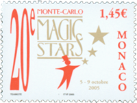 Monaco - Magic Stars - Postfrisk frimærke