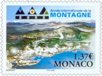 Monaco - Year of the mountain - Mint stamp