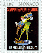 Monaco - Biscuits Scapini - Timbre neuf