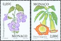 Monaco - Fleurs - Série neuve 2v