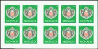 Monaco - Armoiries - Carnet neuf - vert