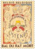 Belgien - Maskerade 'Bal du rat Mort' - Postfrisk frimærke