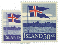 Iceland 1958 - AFA no.328-329 - Mint