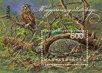 Ungarn - Skovens dyr - Postfrisk miniark