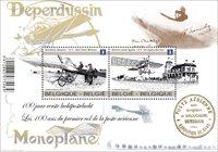 Belgien - Luftpost - Postfrisk miniark