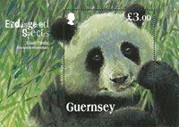 根西岛-大熊猫 - 小型张, 新票