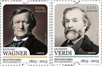 葡萄牙- 理查德•瓦格纳和威尔第歌剧大师 - 2枚,套票