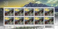 Switzerland - Lötschbergbahn Railway bridge - Mint sheetlet