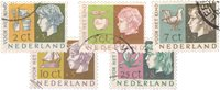 Holland 1953 - NVPH 612-616 - Stemplet