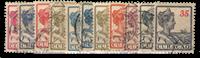 Curacao - koningin Wilhelmina (nr. 57-67, gebruikt)