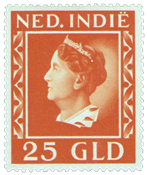 Nederland - 25 gulden Koningin Wilhelmina 1941, (nr. 289,  ongebruikt)