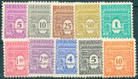 France - YT 620-29 - Neuf