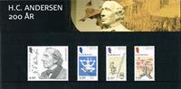 Danmark  - Souvenirmappe 200 året HCA