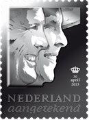 Pays-Bas - Roi Willem - Timbre en argent