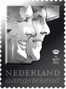 Netherlands - New King - Nice silver stamp