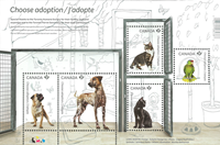 Canada - Adopter un animal domestique - Bloc-feuillet neuf