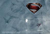 Jersey - Superman - Bloc-feuillet neuf 3D