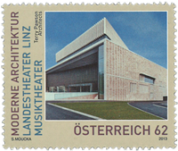 Austria - Linz Music theatre - Mint stamp
