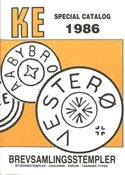 KE Special frimærkekatalog 1986.Brevsamlingsstempler.