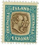 Island 1907 - AFA nr.60 - Postfrisk