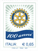 Italien - Rotary 100 år - Postfrisk frimærke