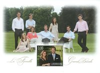 Luxembourg - Storhertugfamilien - Postfrisk miniark