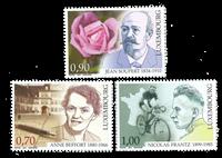 Luxemburg - Berømte personer - Postfrisk sæt 3v
