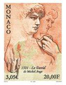 Monaco - La sculpture David par Michel Angelo - Timbre neuf