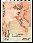 Monaco - Le David - Timbre neuf