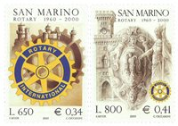 San Marino - Rotary - Postfrisk sæt