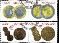 Monaco - Monnaies euro - Série obl. 4v