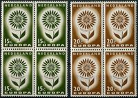 Netherlands 1964 - NVPH 827-828 - Mint - 4 block