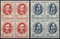 Países Bajos 1960 - NVPH 743-744 - Nuevo - 4 bloques