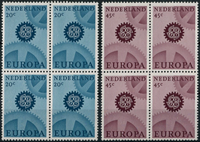 Netherlands 1967 - NVPH 882-883 - Mint - 4 block