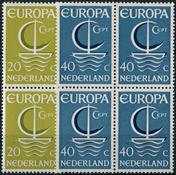 Netherlands 1966 - NVPH 868-869 - Mint - 4 block
