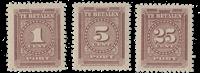 Suriname - Port Cijfer 1945 (P33-P35, postfris)