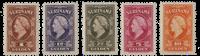 Suriname - Koningin Wilhelmina 1945 (nr.239-243, postfris)