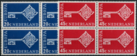 Netherlands 1968 - NVPH 906-907 - Mint - 4 block