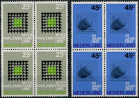 Netherlands 1970 - NVPH 973-974 - Mint - 4 block