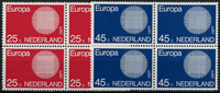 Netherlands 1970 - NVPH 971-972 - Mint - 4 block