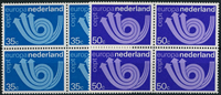 Netherlands 1973 - NVPH 1030-1031 - Mint - 4 block