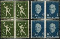Holland 1954 - NVPH 647-648 - Postfrisk - 4-blok