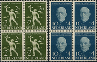Netherlands 1954 - NVPH 647-648 - Mint - 4 block