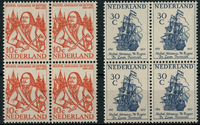 Netherlands 1957 - NVPH 693-694 - Mint - 4 block