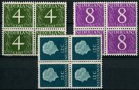 Netherlands 1962 - NVPH 774-776 - Mint - 4 block
