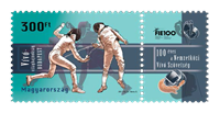 Ungarn - Fægtning - Postfrisk frimærke