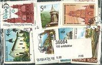 100张建筑物的邮票