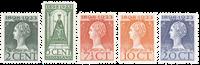 Nederland - 5 waardes uit de jubileumserie 1923 (nr. 121-125, postfris)