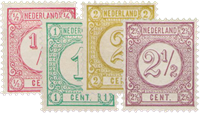 Holland 1876-1894 - NVPH 30-33 - Ubrugt