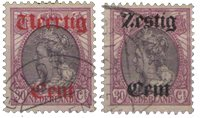 Holland 1919 - NVPH 102-103 - Stemplet